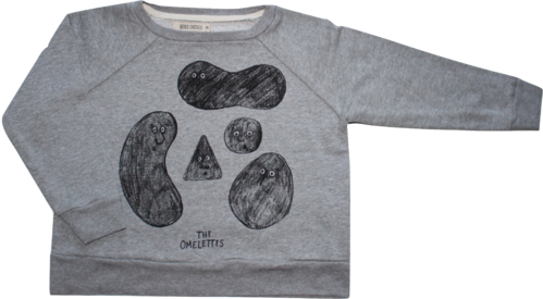Bobo Choses Pullover Sweatshirt The Omelettes Größe 4 - 5 Jahre