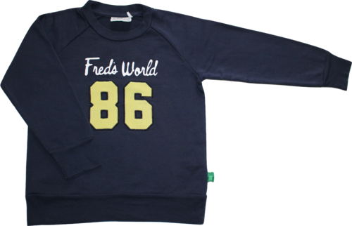 Fred's Word by Green Cotton Pullover Sweatshirt blau Größe 110