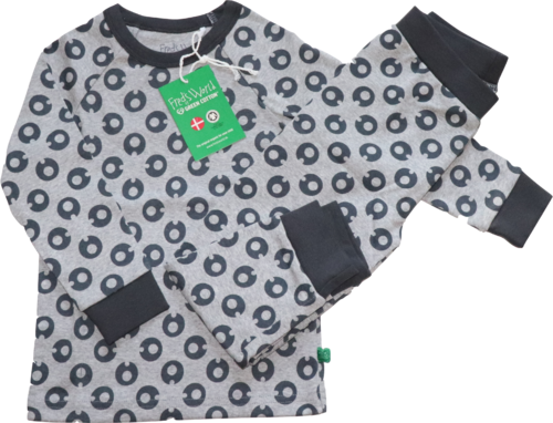 Fred's World by Green Cotton Pyjama Schlafanzug grau Größe 110
