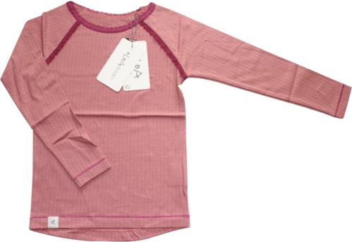 AlbaBaby AlbaKid Shirt Langarm Ghita Old Rose Waves