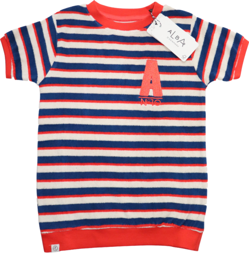 AlbaBaby AlbaKid Shirt Kurzarm Frottee Roy Solidate Blue Striped Größe 134